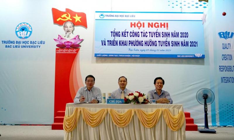 Trường Đại học Bạc Liêu tổ chức Hội nghị công tác tuyển sinh