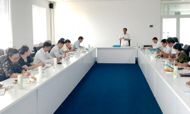 Đoàn công tác Đảng ủy Khối thực hiện kiểm tra, giám sát đối với Đảng ủy, Ủy Ban kiểm tra Đảng ủy Trường Đại học Bạc Liêu.