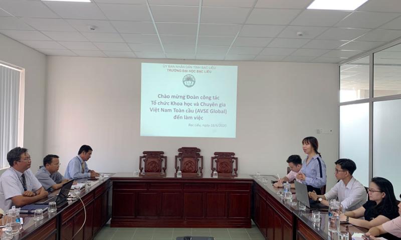 Tổ chức Khoa học và Chuyên gia Việt Nam Toàn cầu (AVSE Global) đến thăm và làm việc với Trường Đại học Bạc Liêu