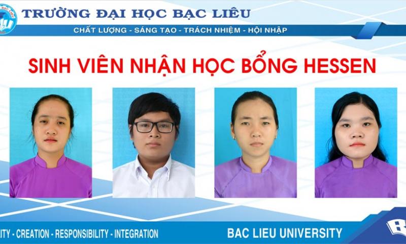 Trường Đại học Bạc Liêu có 04 sinh viên được nhận học bổng Hessen