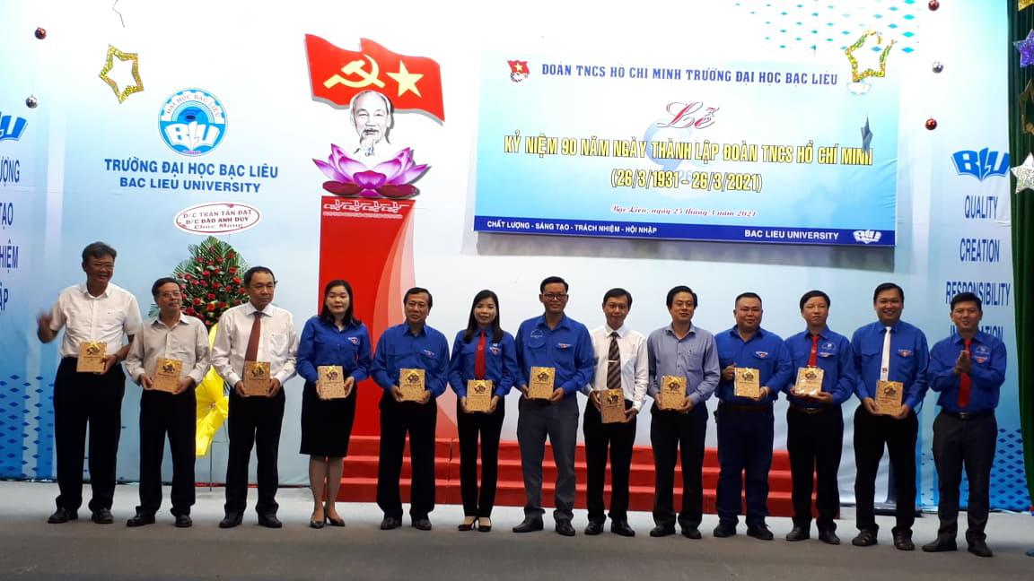 Đoàn trường Đại học Bạc Liêu tổ chức Lễ kỷ niệm 90 năm  Ngày thành lập Đoàn TNCS Hồ Chí Minh 26/3/1931 – 26/3/2021