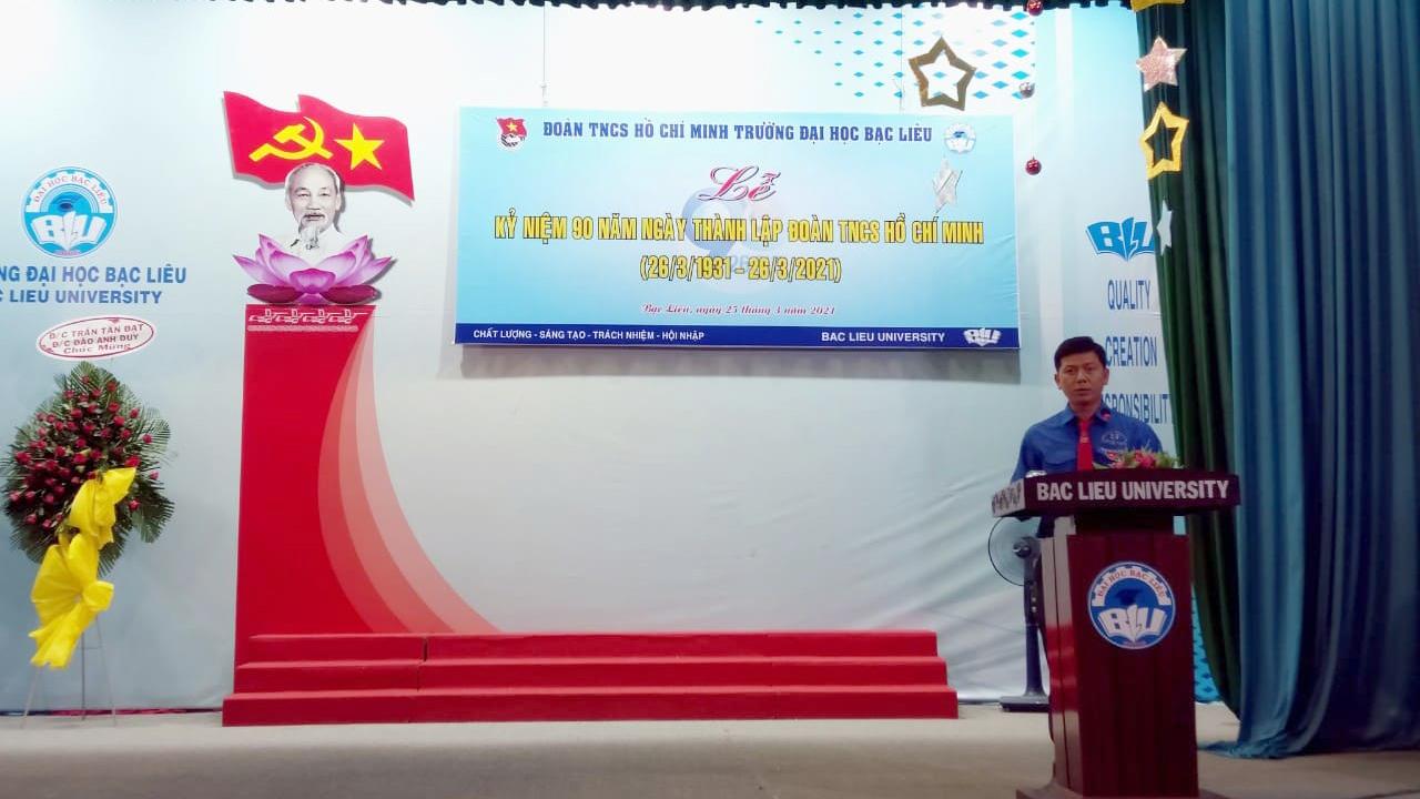 Đ/c Đặng Thiện Huỳnh - Bí thư Đoàn Thanh niên Trường
