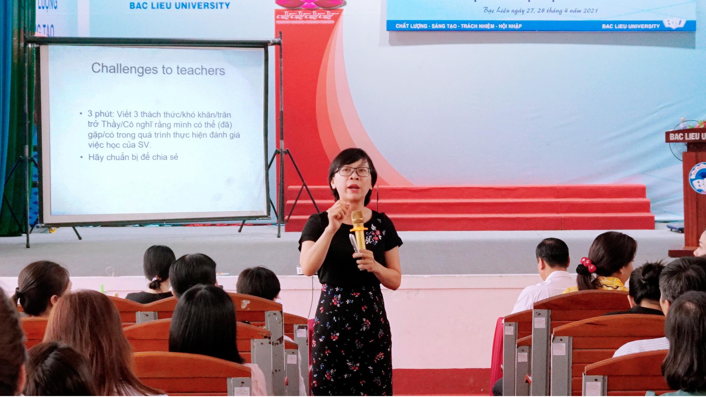 Trường đại học Bạc Liêu tập huấn cách thức triển khai  đo lường và đánh giá học phần