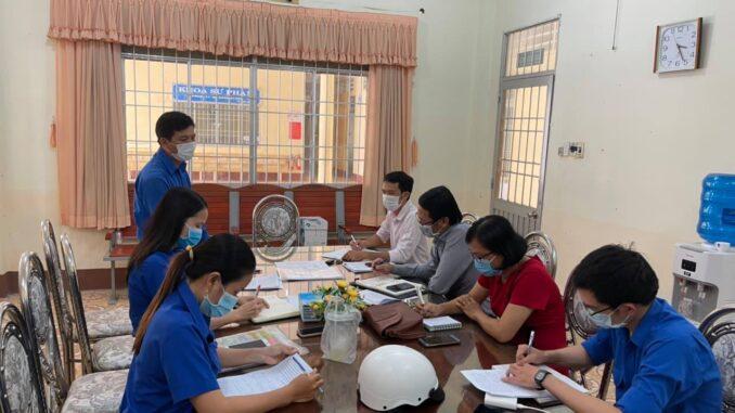 Ủy Ban kiêm tra Đoàn trường Đại học Bạc Liêu thực hiện kiểm tra công tác Đoàn và phong trào thanh niên năm học 2020 – 2021